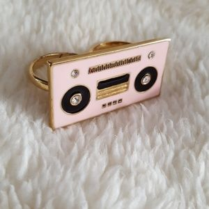 Kate Spade Jazz Things Up boom box double ring